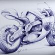 Old-school motorcycle